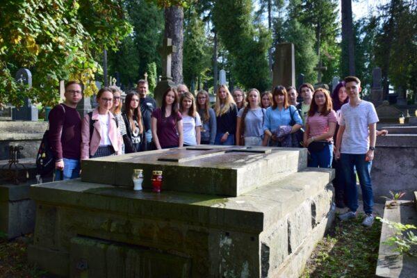 Uczniowie LO w Obornikach - na